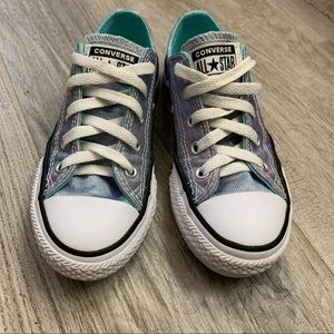 Converse iridescent low tops size 13